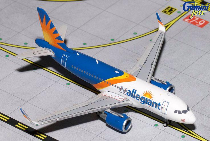 1/400 GeminiJets Allegiant Air Airbus A319s Diecast Model