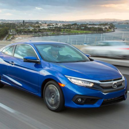 2016 Honda Civic Coupe LX The EX-T adds a turbocharger notwithstanding 17-inch combination wheels, mist lights, collapsing back spoiler, remote begin