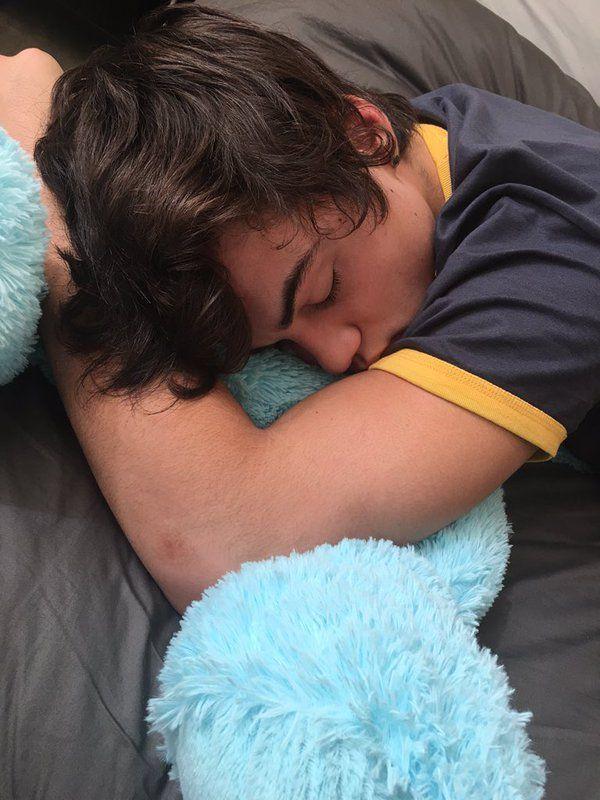 I'm am sleeping with teddy bear
