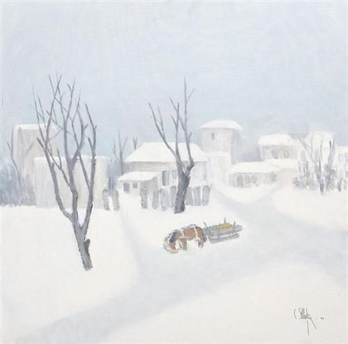 Winter in the Village - Constantin Piliuta