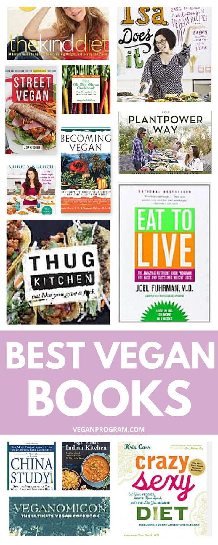Looking for some inspiration to start being healthier? These are the best vegan books and cookbooks that make going vegan easy and fun. Are you ready to get healthier and feel better? | veganprogram.com