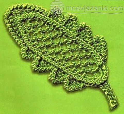 Пышный ирландский листик | MoeVjazanie