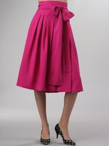 Easy instructions for sewing a cute wrap skirt from 2 yards of fabric. Cute and not short
