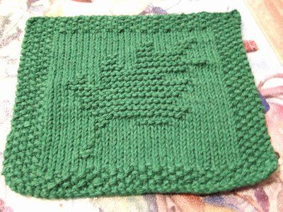 oak leaf dishcloth - free Ravelry download Knit Dishcloth Patterns Pinter...