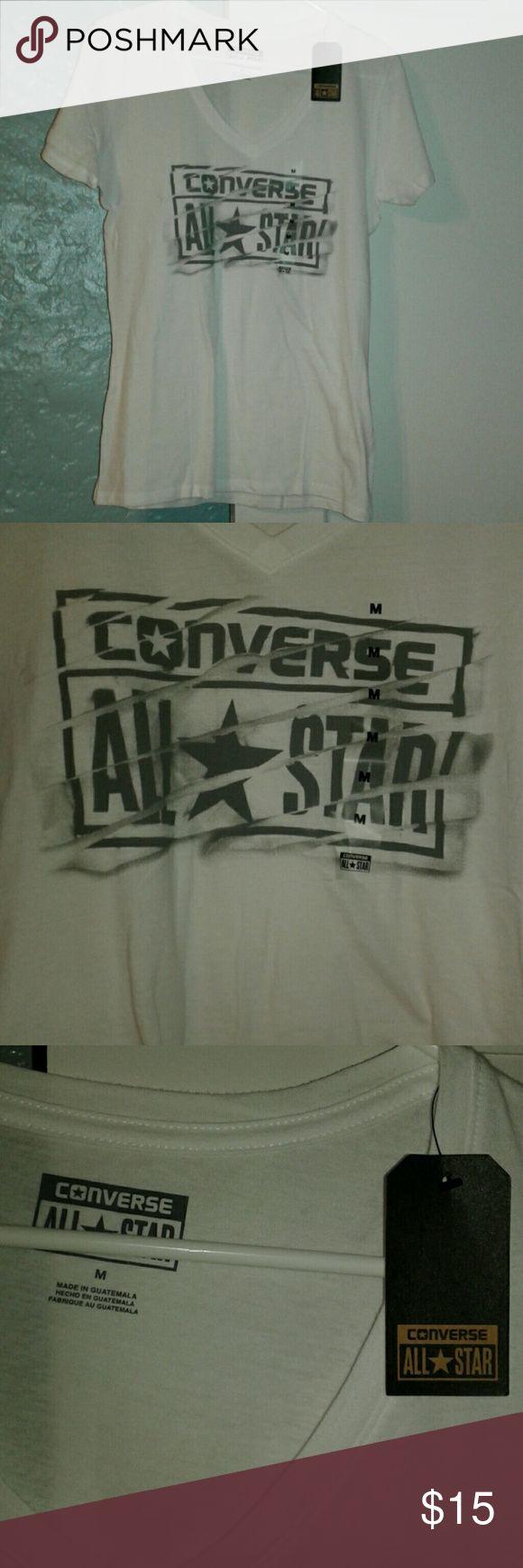 NWT ladies converse tee NWT size medium white ladies converse tee. Converse Tops