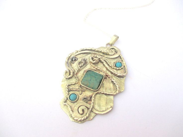 Reclaimed Antique Turquoise Necklace by Picossa on Etsy