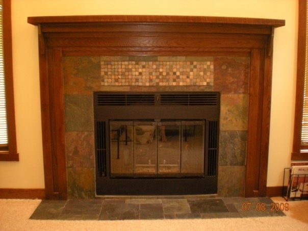 slate tile fireplace surround. slate tile fireplace surround with reclaimed wood mantle from my former  condo all 25 best Fireplace images on Pinterest Slate tiles