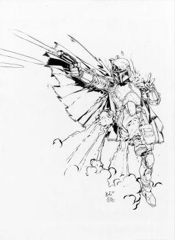 boba fett unleashed lashley egli inks by surftiki - Jango Fett Coloring Page