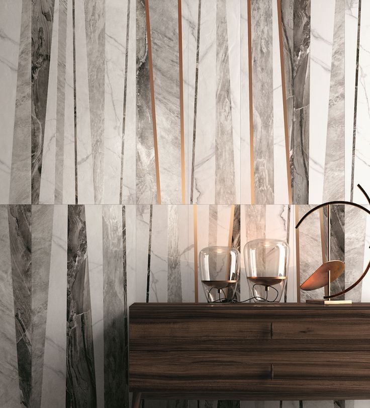A luxurious marble effect with gold inlays: Supreme by Flaviker #Cersaie2015