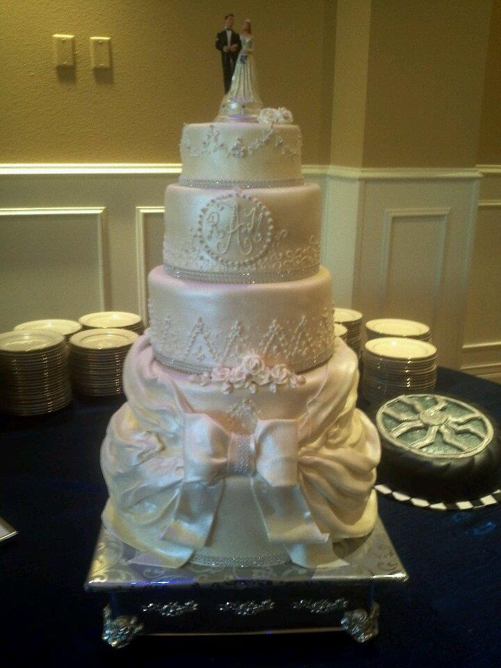 Blinged Out Wedding Cake Stand