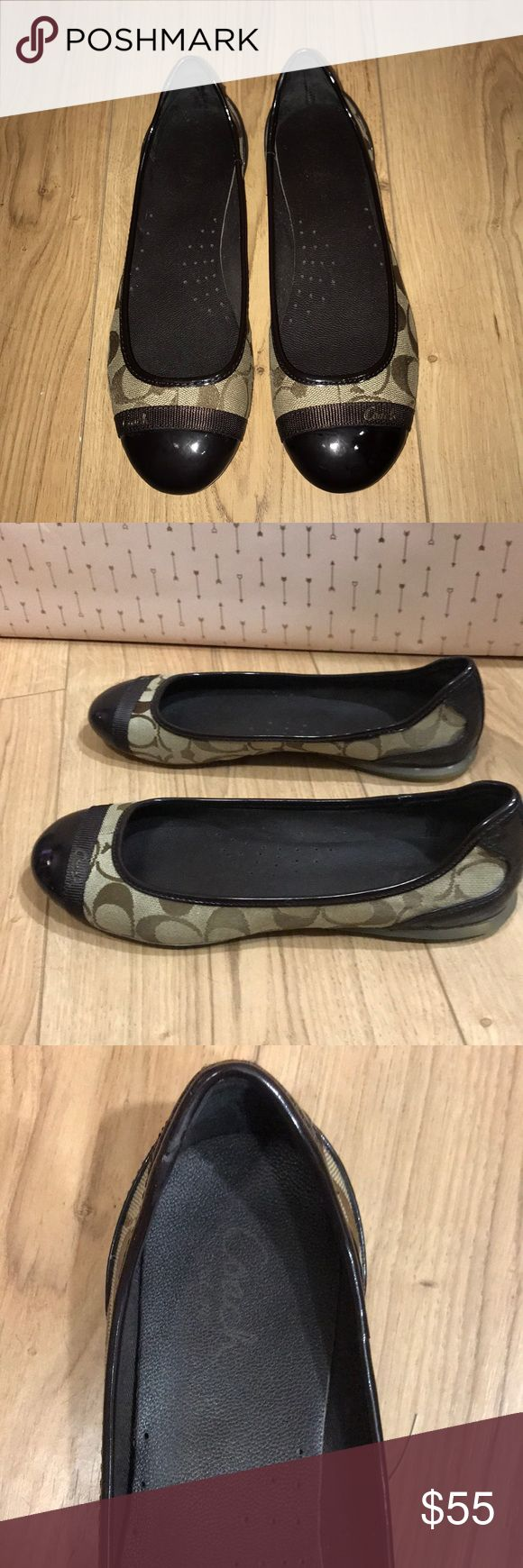 Coach flats Coach flats in great condition! Only worn a few times. They are a 7.5 but I think run a tad big Coach Shoes Flats & Loafers