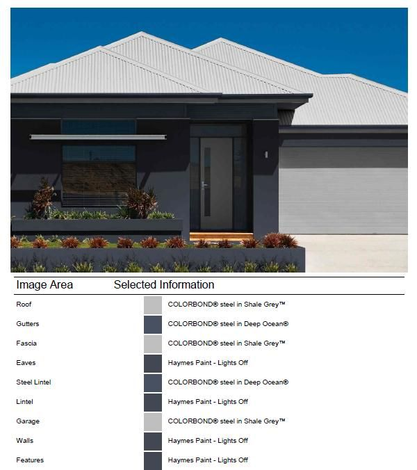 exterior facade colour selection done with colorbond online