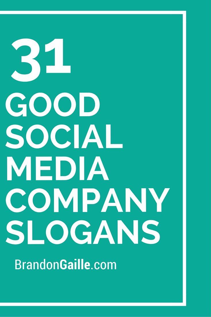 31 Good Social Media Company Slogans And Taglines Social