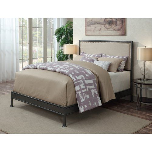 Right2Home Industrial Upholstered Panel Bed - Queen - Beds at Hayneedle $366