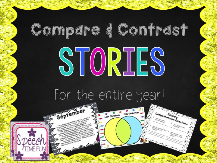 best comprehension activities images speech  speech time fun compare and contrast stories for the entire year