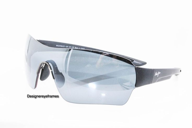 MAUI JIM Night Dive MJ 521 2M Matte Black Shield Polarized SUNGLASSES AUTH NWC  #MauiJim