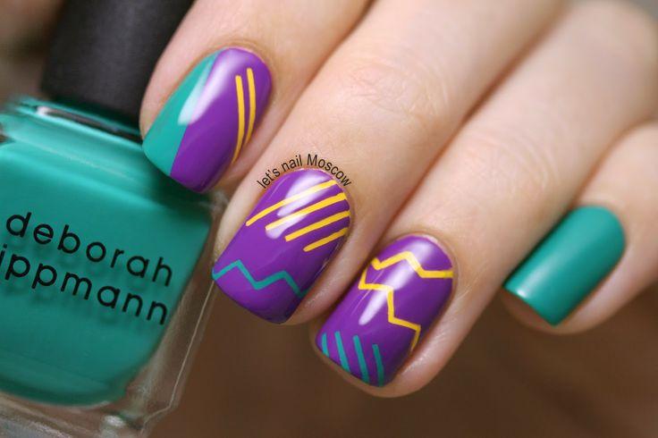 новая коллекция Deborah Lippmann - nail art : 1 из 4 ( inspired by the 80s )