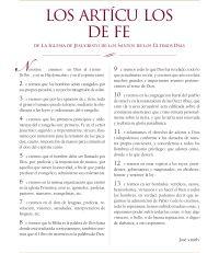 LOS ARTICULOS DE FE