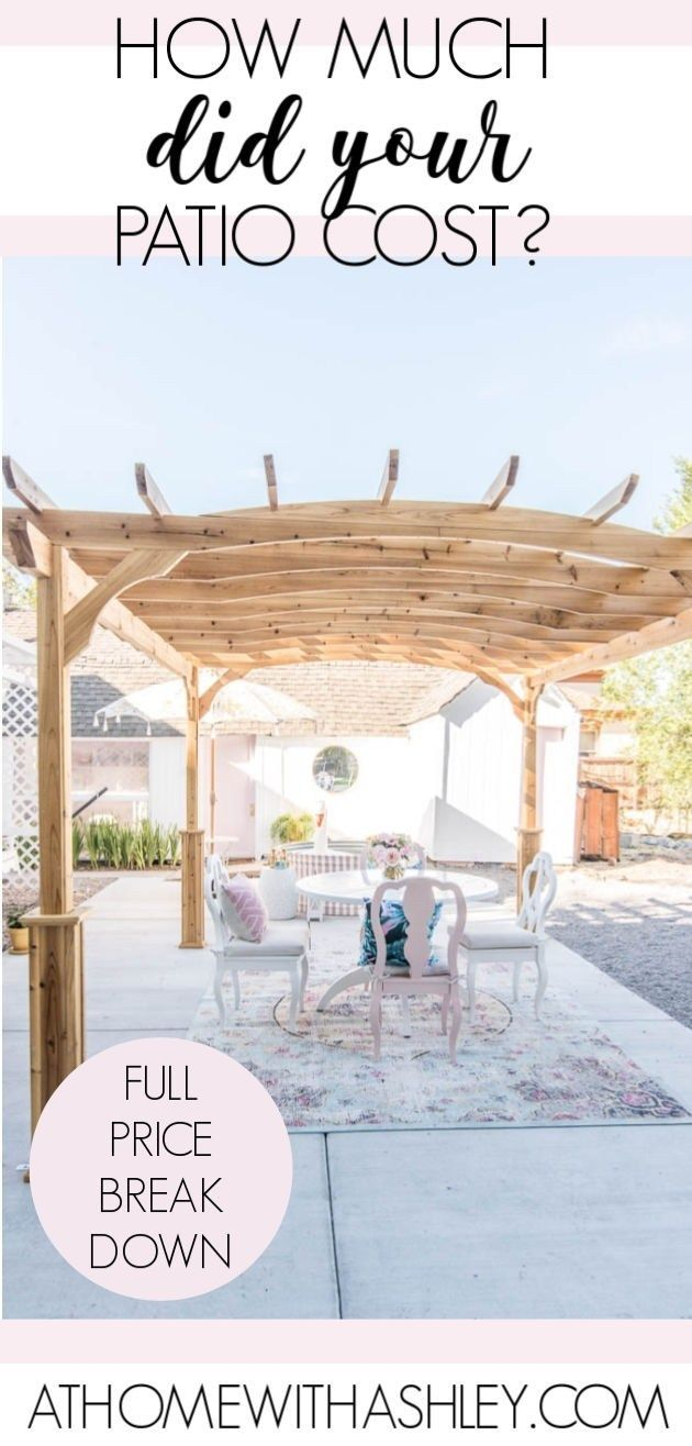 How Much did the Patio Cost Patio, Outdoor interior