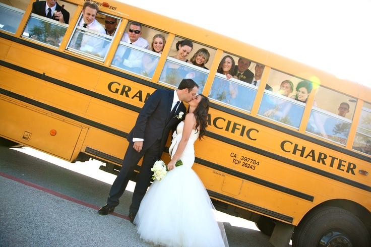 A School Bus Rather Than The Regular Limo For Wedding Transportation My Stuff Pinterest Buses And