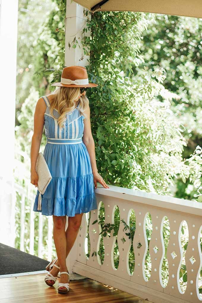 Alice in Wonderland inspired dress - this adorable summer dress comes from the Lauren Conrad collection and is very affordable! Click through for more details on this summer outfit.