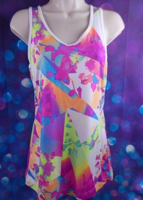 23.08$  Buy now - http://viqmt.justgood.pw/vig/item.php?t=q1pp1x0178 - FILA Ladies Sleeveless Colorful Racerback V Neck Athletic Tank Top Shirt Medium