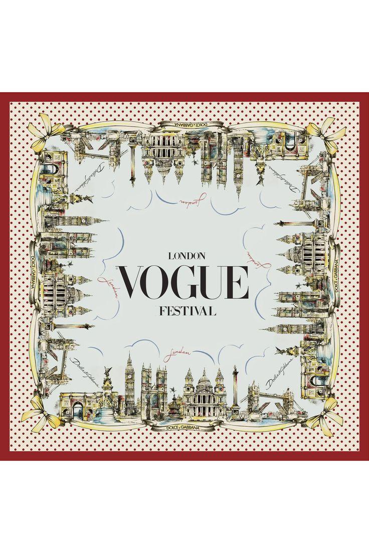 Dolce & Gabbana and Vogue foulard