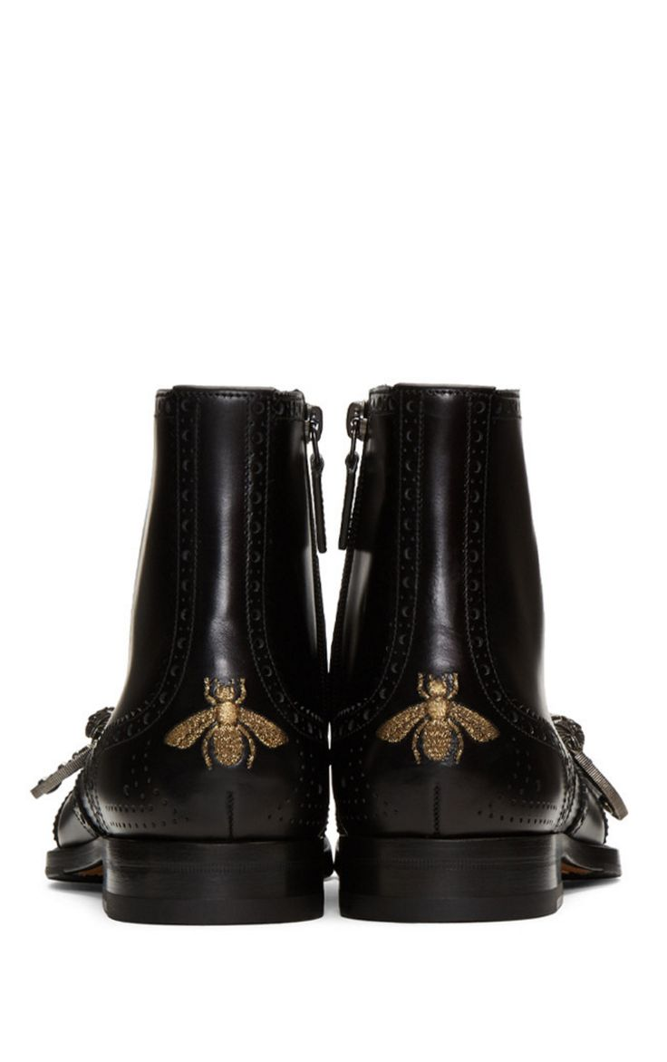 Gucci Black Queercore Boots from SSENSE (men, style, fashion, clothing, shopping, recommendations, stylish, menswear, male, streetstyle, inspo, outfit, fall, winter, spring, summer, personal)