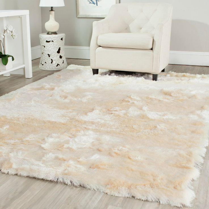 safavieh handmade silken glam paris shag ivory polyester