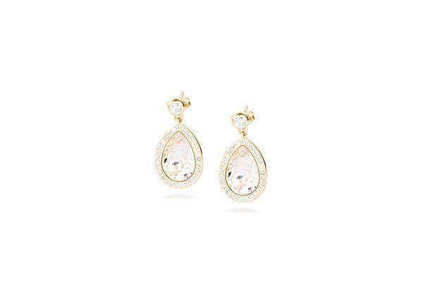 JEWELS   TEAR   #sarniOro #brosway #tear #orecchini #earring #jewels #cristallo , pvd oro e cristallo Swarovski® Elements