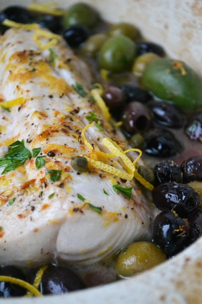 Minimal monday cod with lemon and olives recipe baked for Bake cod fish