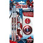 Marvel Captain America Civil War Stationery Set - Ruler, Pencils, Eraser & Sharpener