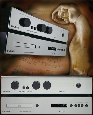 Evolution of the 1989 Sugden A21a Original: no change to model code, still Sugden A21a Pure Class 'A' Integrated Stereo Amplifier and now a matching Sugden CD21 Compact Disc Player. (2000-2007)