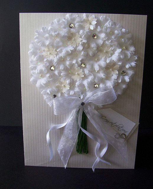 Tarjeta boda, modelo bouquet