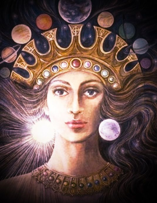 Ishtar also known as Inanna - Star, Goddess of Power War Fertility & Sacred Sexuality - the one who has gone through the 7 gates, died & resurrected