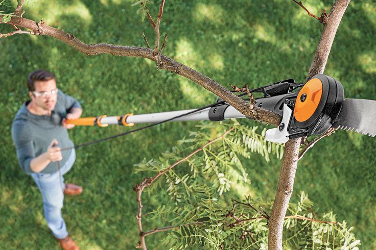 77. Chain Drive Extendable Pole Saw & Pruner • Fiskars