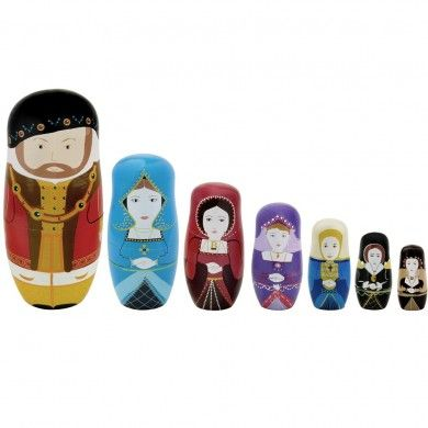 Henry and wives nesting doll - Hampton Court Palace gift shop. I must have this!
