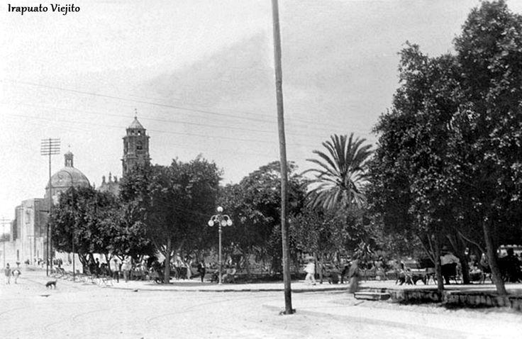 Jardin Hidalgo en 1930 en Irapuato Guanajuato , Mexico