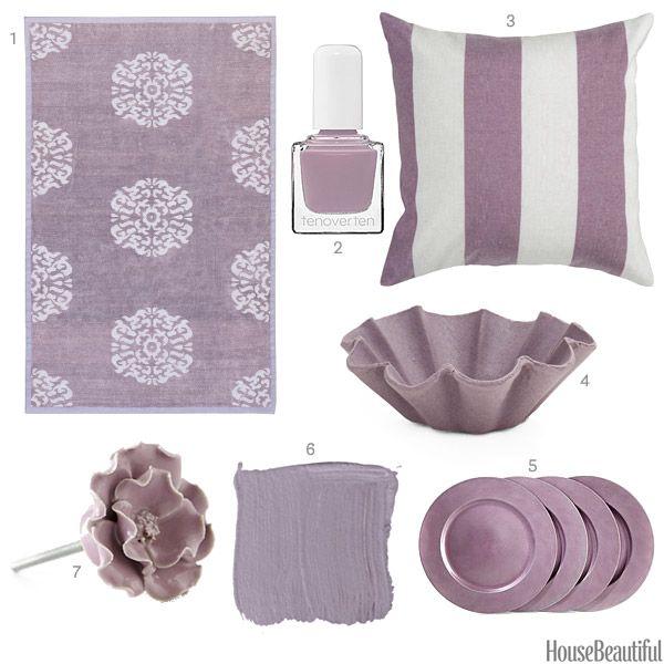 Benjamin Moore Paint in Sanctuary AF-620  Dusty Purple Accessories - Purple Home Decor - House Beautiful