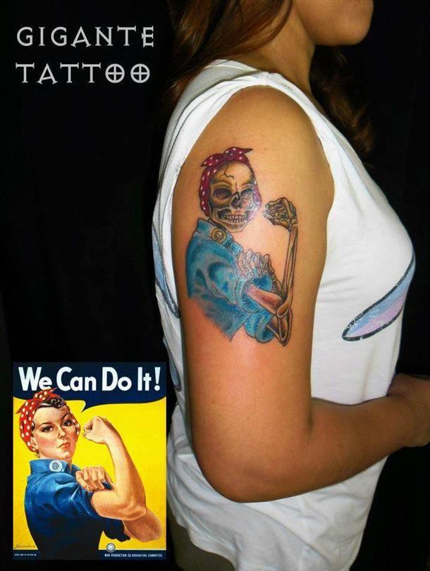 tatuagens feminina we can do it