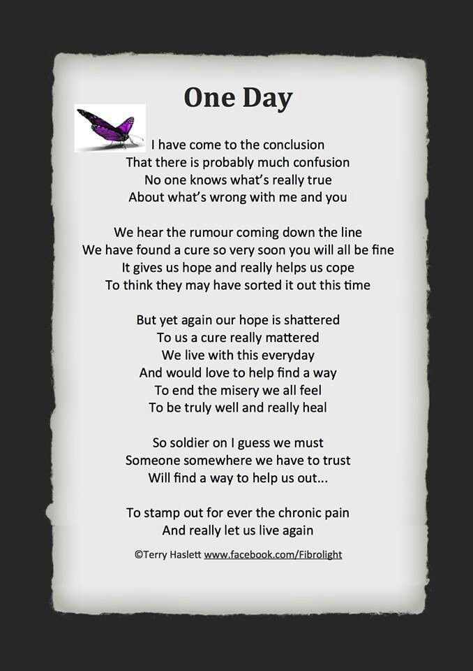 beautiful poem for #spoonies | I Wear Purple for Me ...
