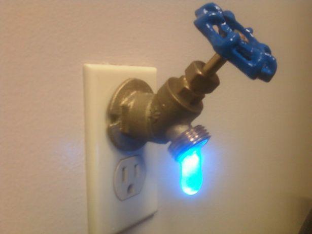 Nightlight?Lights Faucets, Etsy Night, Faucets Night, Trav'Lin Lights, White Lights, Night Lights, Led Faucets, Faucets Valve, Led Interiordesign