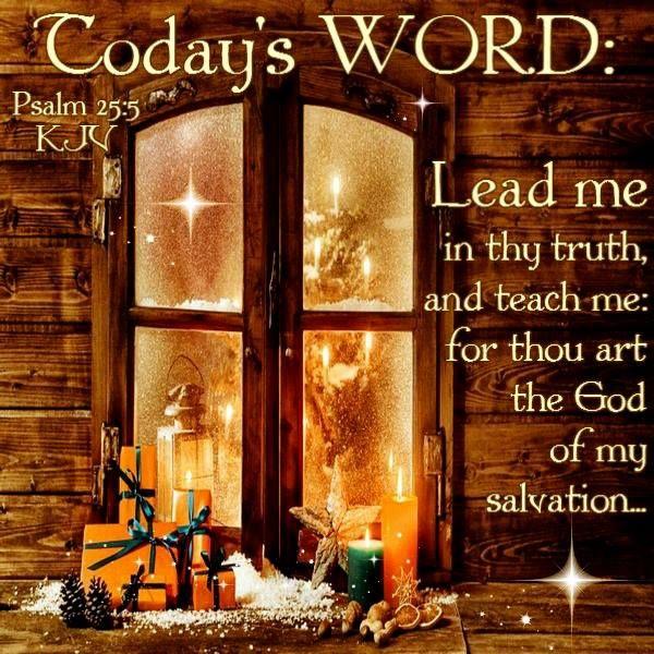Psalm 25:5 (1611 KJV !!!!)