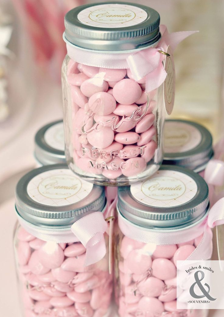 Love mason jar candy favor container