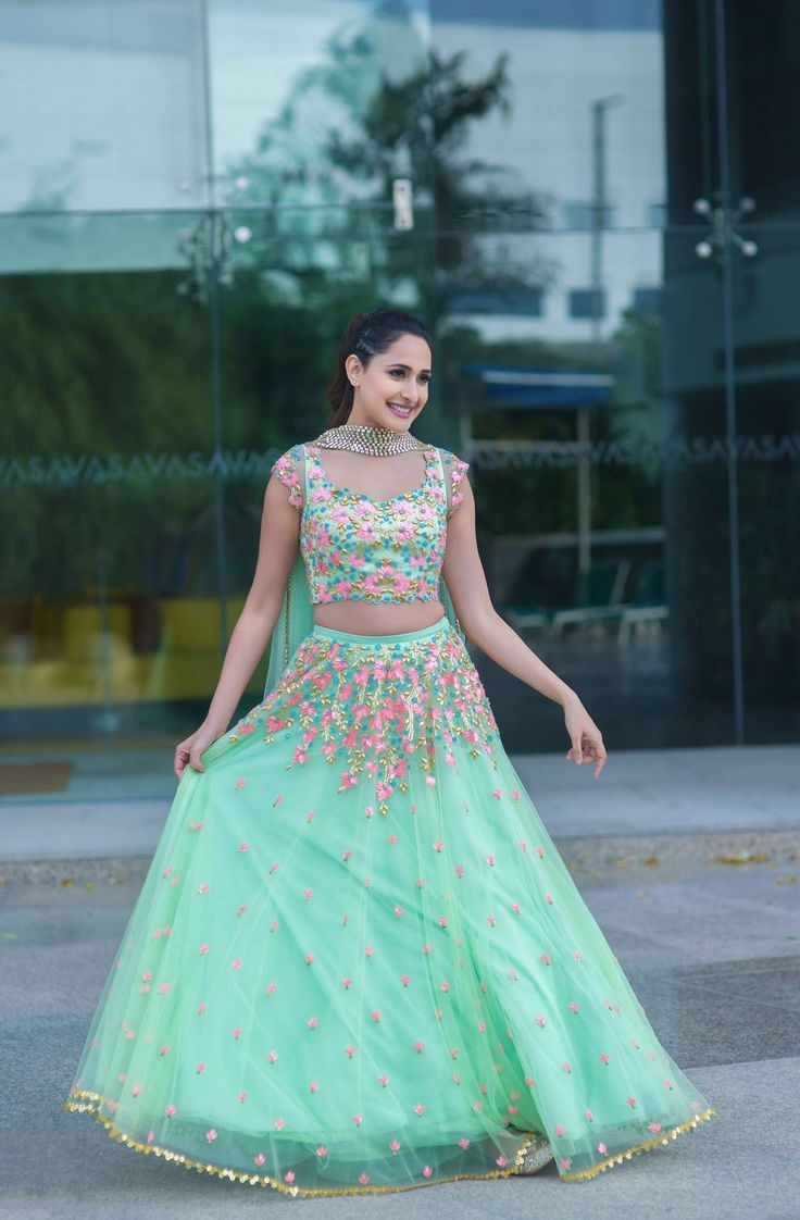 Pragya Jaiswal for an event in Hyderabad wearing this super fun lehenga by Papa Don't Preach By Shubhika. <br> styled by : Anisha n Rochelle <br> clicked by Sameer khan photography. 19 August 2017