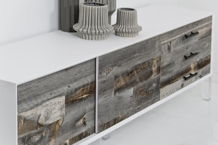 Modern Pristinie White With Rustic Grey Wash Wood Love