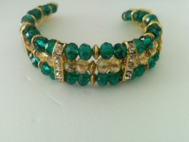 Green & Gold Bracelet £5.99