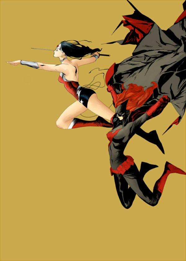 "artverso: "" Jae Lee - Batwoman and Wonder Woman """