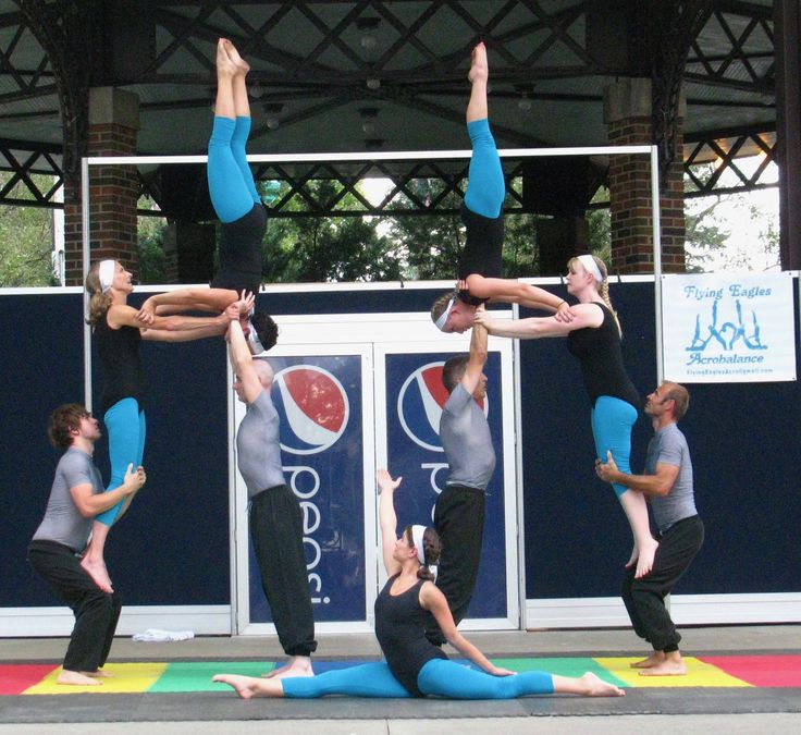 FEAT Acrobatics 9- Person Group Acrobalance outdoor stage show