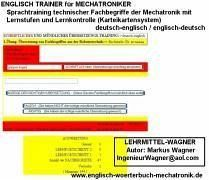 german-english Flashcards helps you learn your robots-vocabulary CD-ROM Englisch Trainer für Mechatroniker